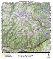 National Forest Service Flattoppers Grooming Map